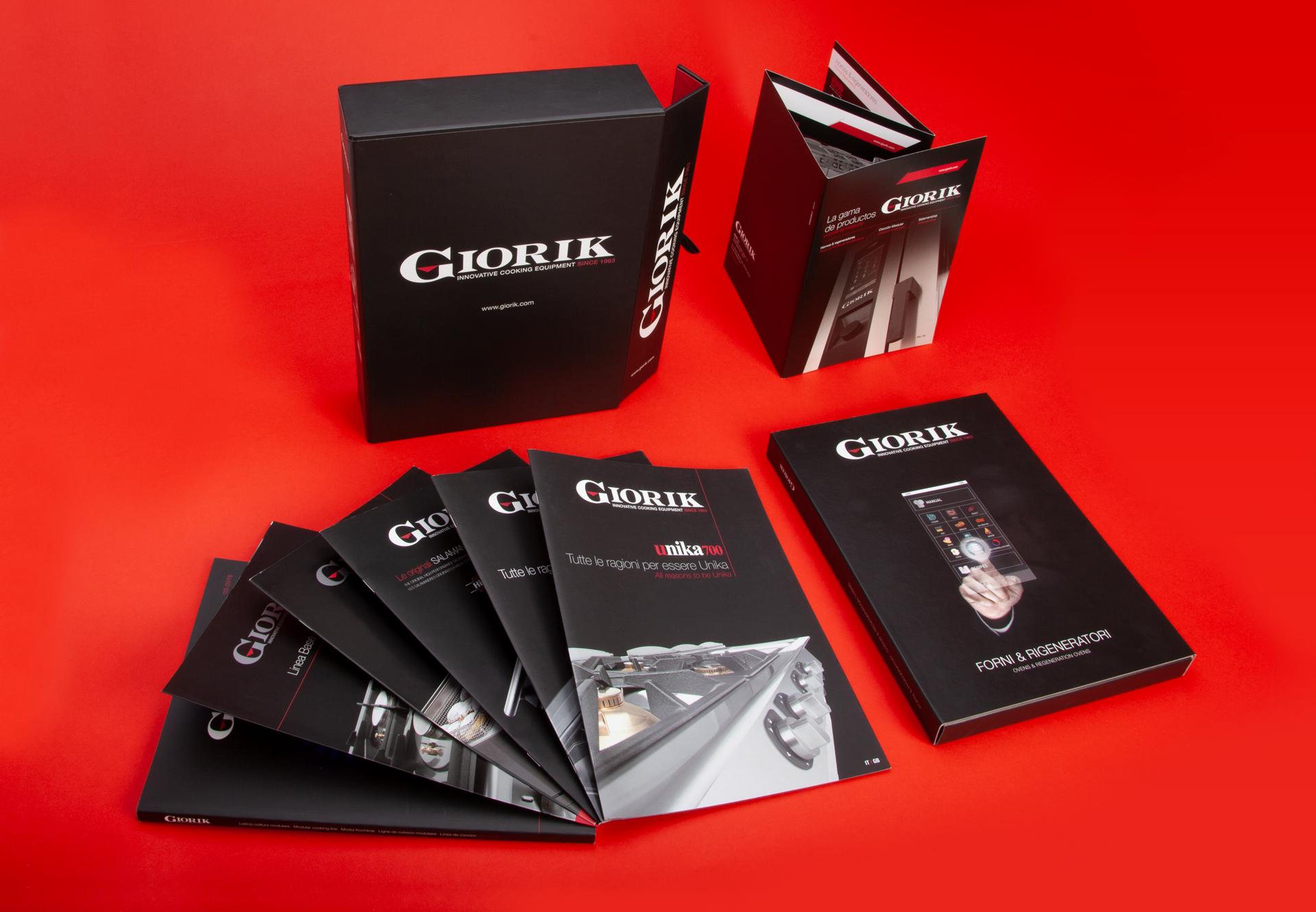 Brochure prodotti, raccoglitore depliant forni e raccoglitore generale