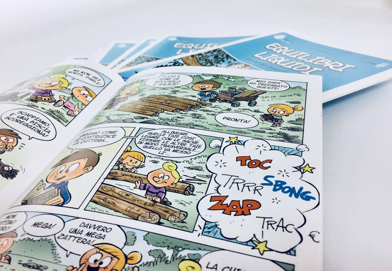 """""""Equilibri liquidi / Avventure sulla Piave"""" fumetto educativo rivolto alle scuole primarie"""
